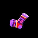 Paio calzini stile geometrico (Viola)