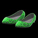 Paio di ballerine maculate (Verde)