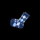 Paio di calzini a rombi (Blu)