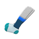 Paio di calzini a strati (Blu)