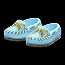 Paio di mocassini classici (Blu chiaro)