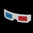 Paio di occhiali 3D (Bianco)