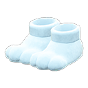 Paio di pantofole a zampa (Bianco)