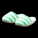 Paio di pantofole da casa (Verde)