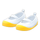Paio di pantofole da scuola (Giallo)