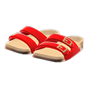 Paio di sandali comodi (Rosso)