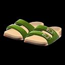 Paio di sandali comodi (Verde)