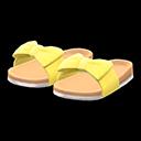 Paio di sandali con fiocco (Giallo)