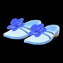 Paio di sandali floreali (Blu)
