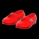 Paio di scarpe con cinturino (Rosso)