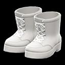 Paio di stivali con lacci (Bianco)