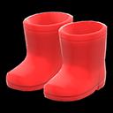 Paio di stivali da pioggia (Rosso)