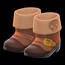 Paio di stivali da pirata (Marrone)