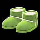 Paio di stivali finto montone (Verde)