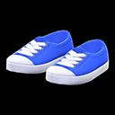 Paio scarpe punta in gomma (Blu)
