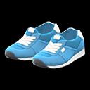 Paio sneaker finto camoscio (Blu chiaro)