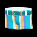 Pantaloncino a righe (Blu)