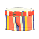 Pantaloncino a righe (Rosso)