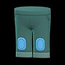 Pantaloncino con toppe (Verde)