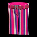 Pantalone a zampa a righe (Rosso)
