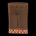 Pantalone con risvolti (Marrone)
