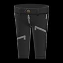 Pantalone in ecopelle (Nero)
