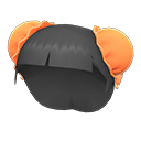 Parrucca con chignon (Arancio)