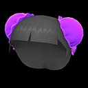 Parrucca con chignon (Viola)