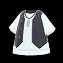Set gilet e maglietta (Nero)