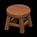 Sgabello di legno (Legno scuro)