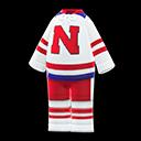 Tuta da hockey su ghiaccio (Bianco e rosso)