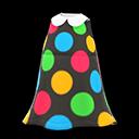 Vestito a pois colorati (Nero)