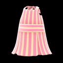 Vestito a righe smanicato (Rosa)