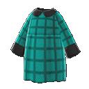 Vestito autunnale largo (Blu pavone)