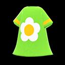Vestito con fiore (Verde)