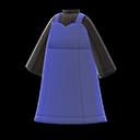 Vestito con scollo a cuore (Blu marino)