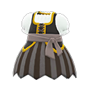 Vestito da pirata (Nero)