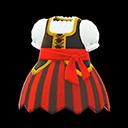 Vestito da pirata (Rosso)