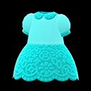 Vestito floreale di merletto (Blu chiaro)