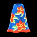 Vestito hawaiano ardito (Blu marino)