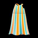 Vestito lungo a righe (Arancio)