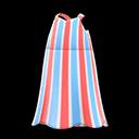 Vestito lungo a righe (Rosso)