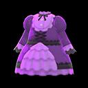 Vestito pieghettato (Viola)