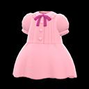 Vestito plissettato (Rosa)