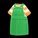 Vestito salopette (Verde)