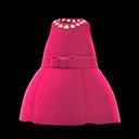 Vestito satinato (Rosso lampone)