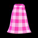 Vestito semplice a scacchi (Rosa)