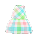 Vestito tartan smanicato (Chic)