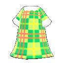 Vestito tartan vivace (Verde)