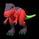 Dinosauro giocattolo (Rosso)